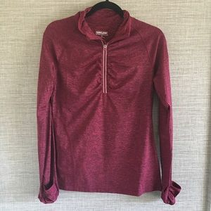 Kirkland Signature Burgundy 1/2 Zip Sweatshirt S